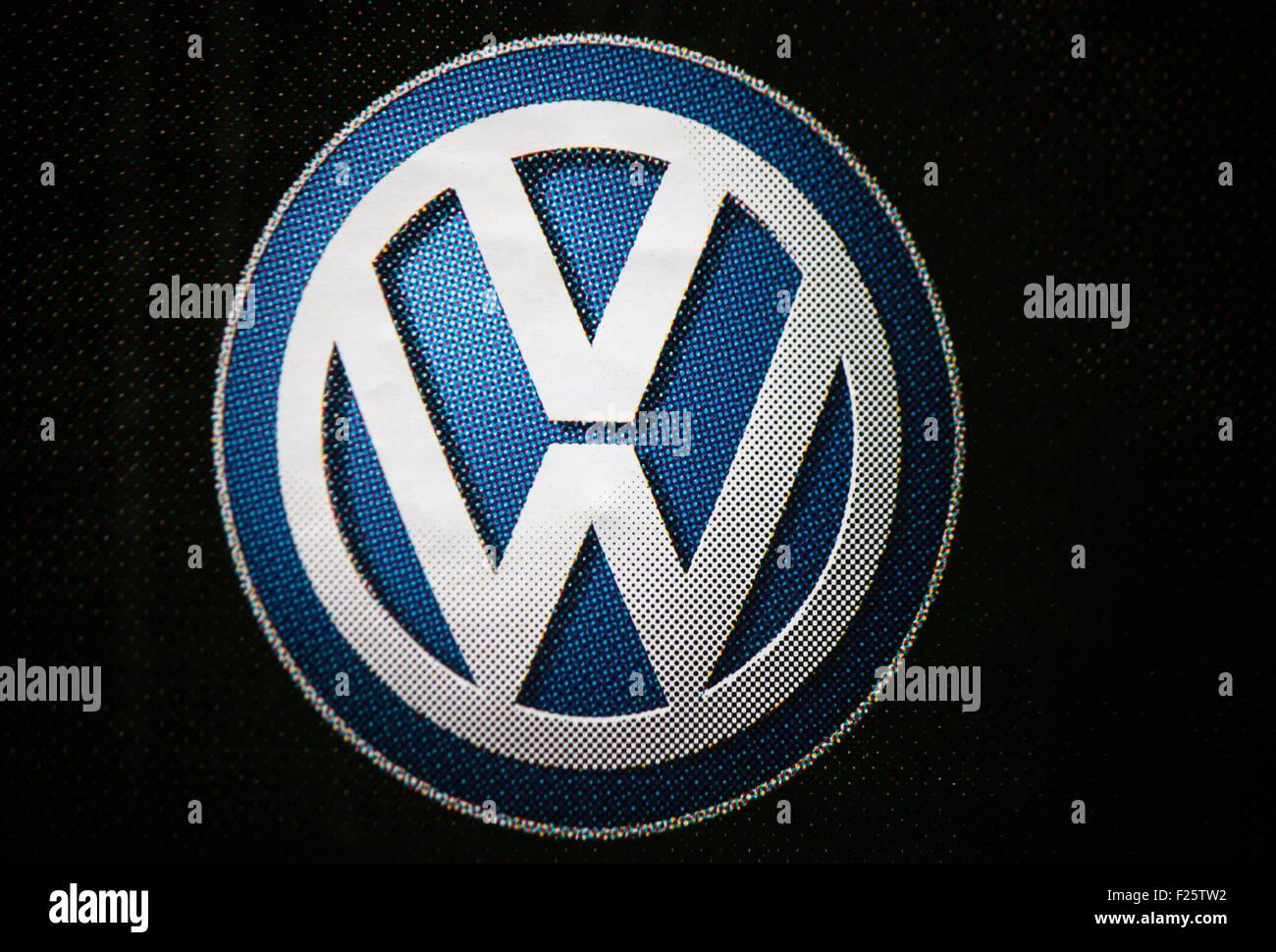 Markennamen: 'VW Volkswagen', Berlin. - Stock Image
