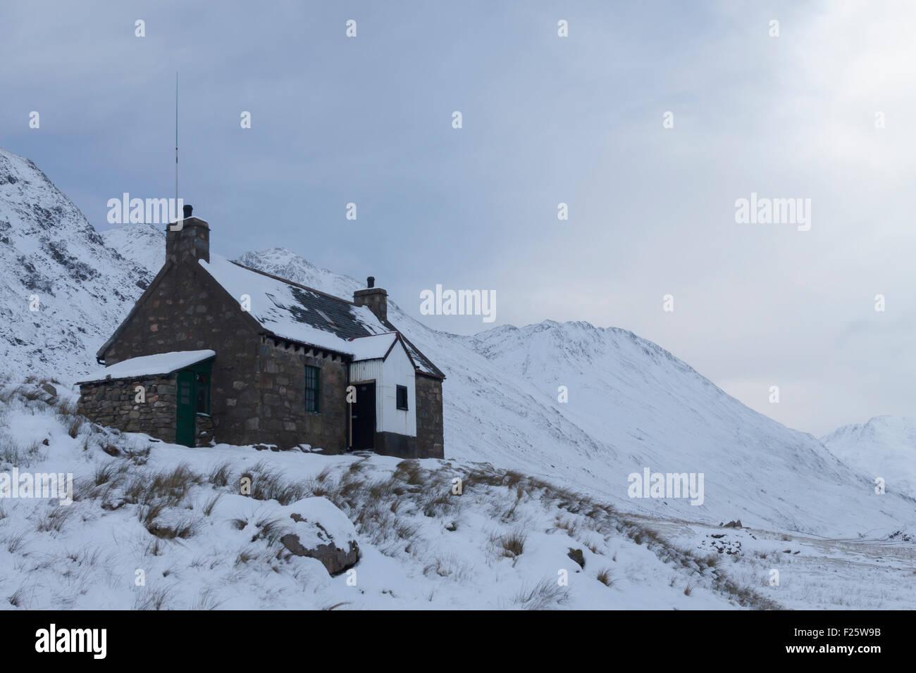 Glen Licht House, Glen Licht, Kintail, North West Highlands, Scotland, UK - Stock Image