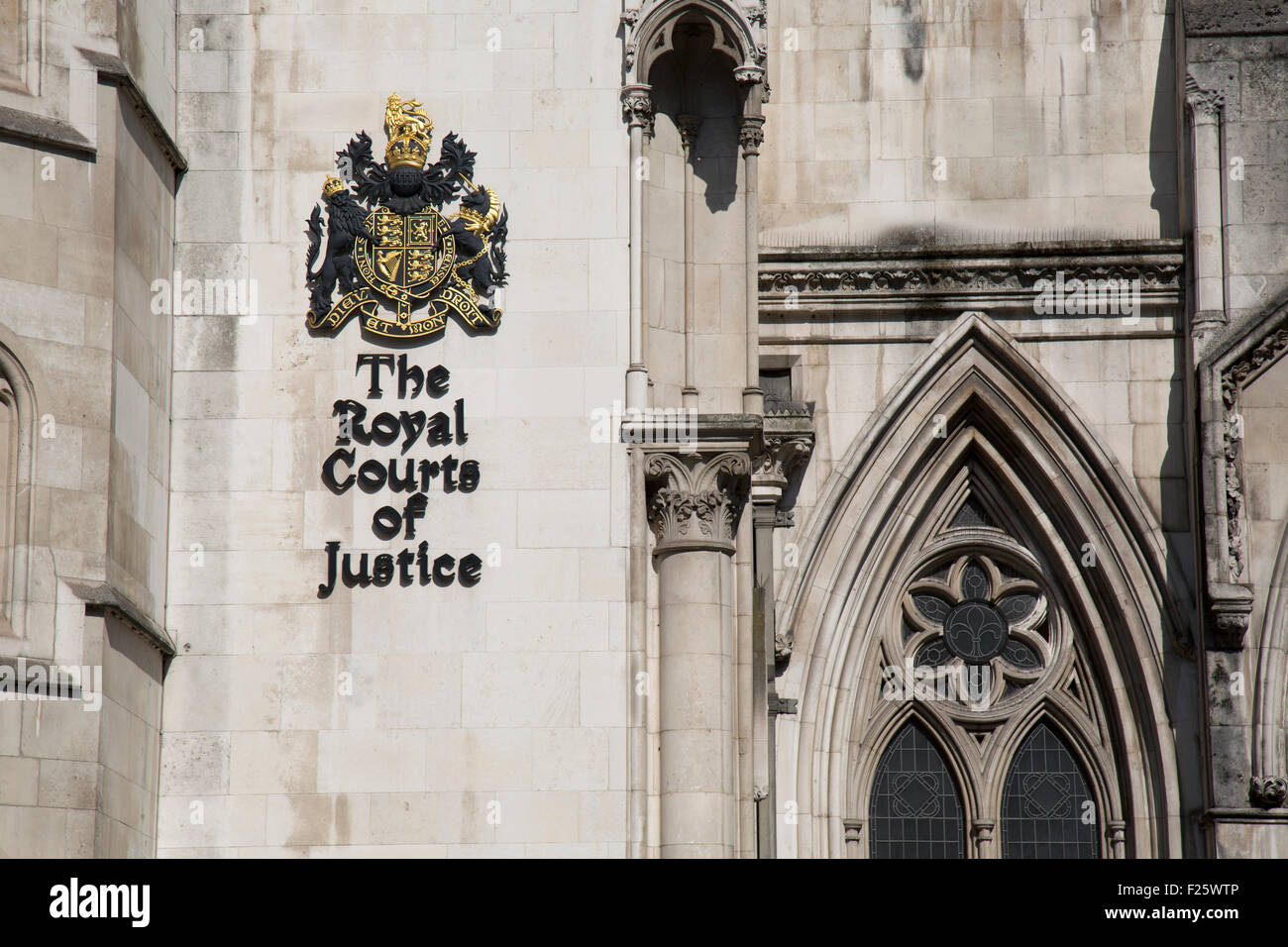 The Royal Courts of Justice, London,England. - Stock Image