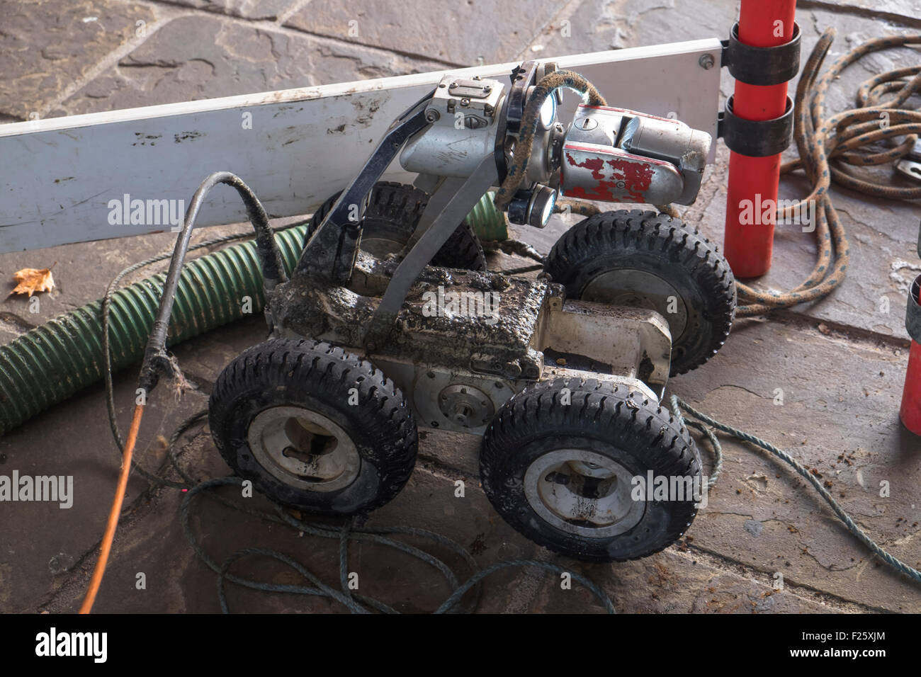 Sewer Pipe Inspection Robot Seen at Bristol Harbour. - Stock Image