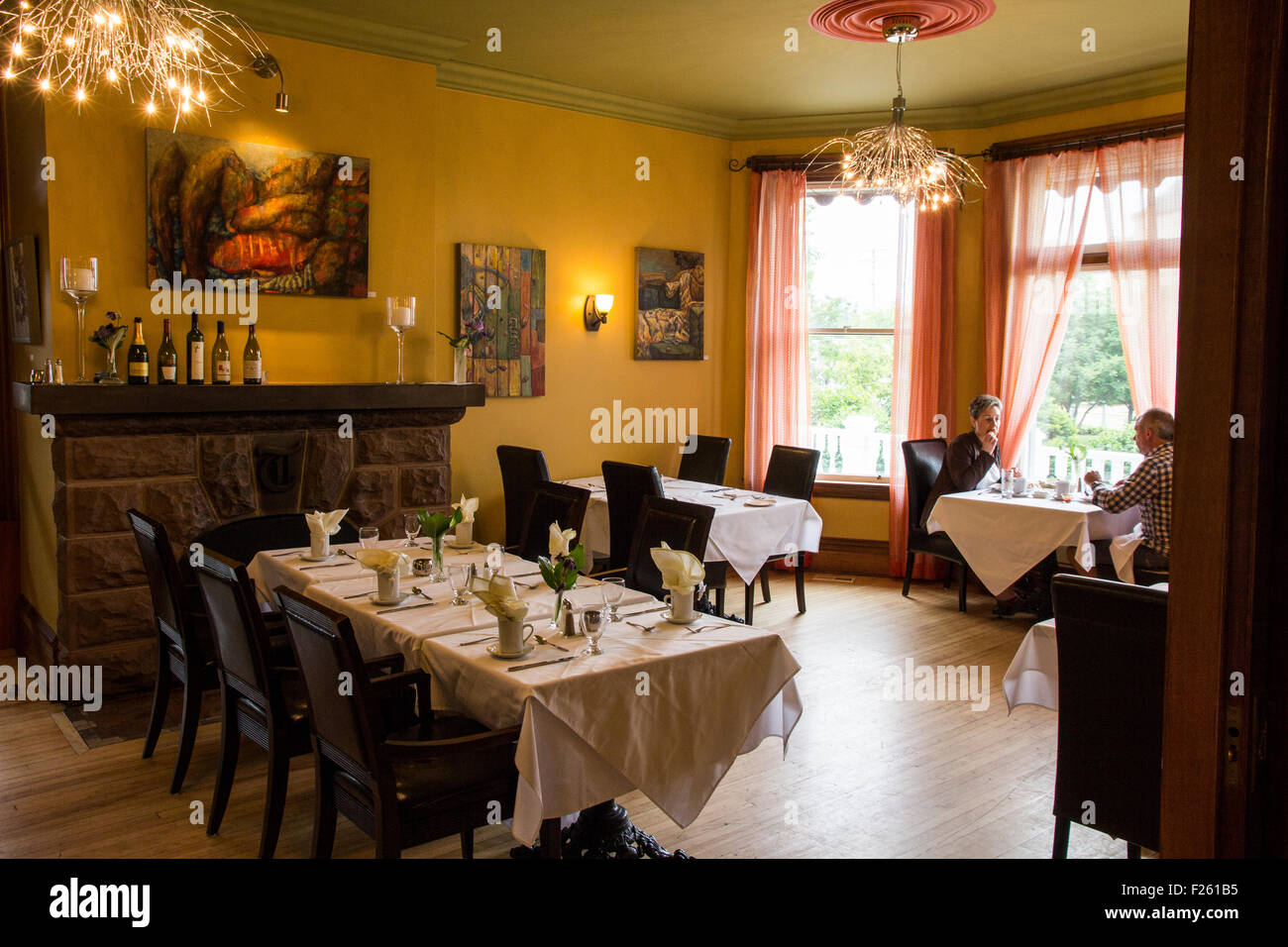 Open to the public, the Tait House restaurant is often cited as the best dining room in Shediac, New Brunswick, - Stock Image