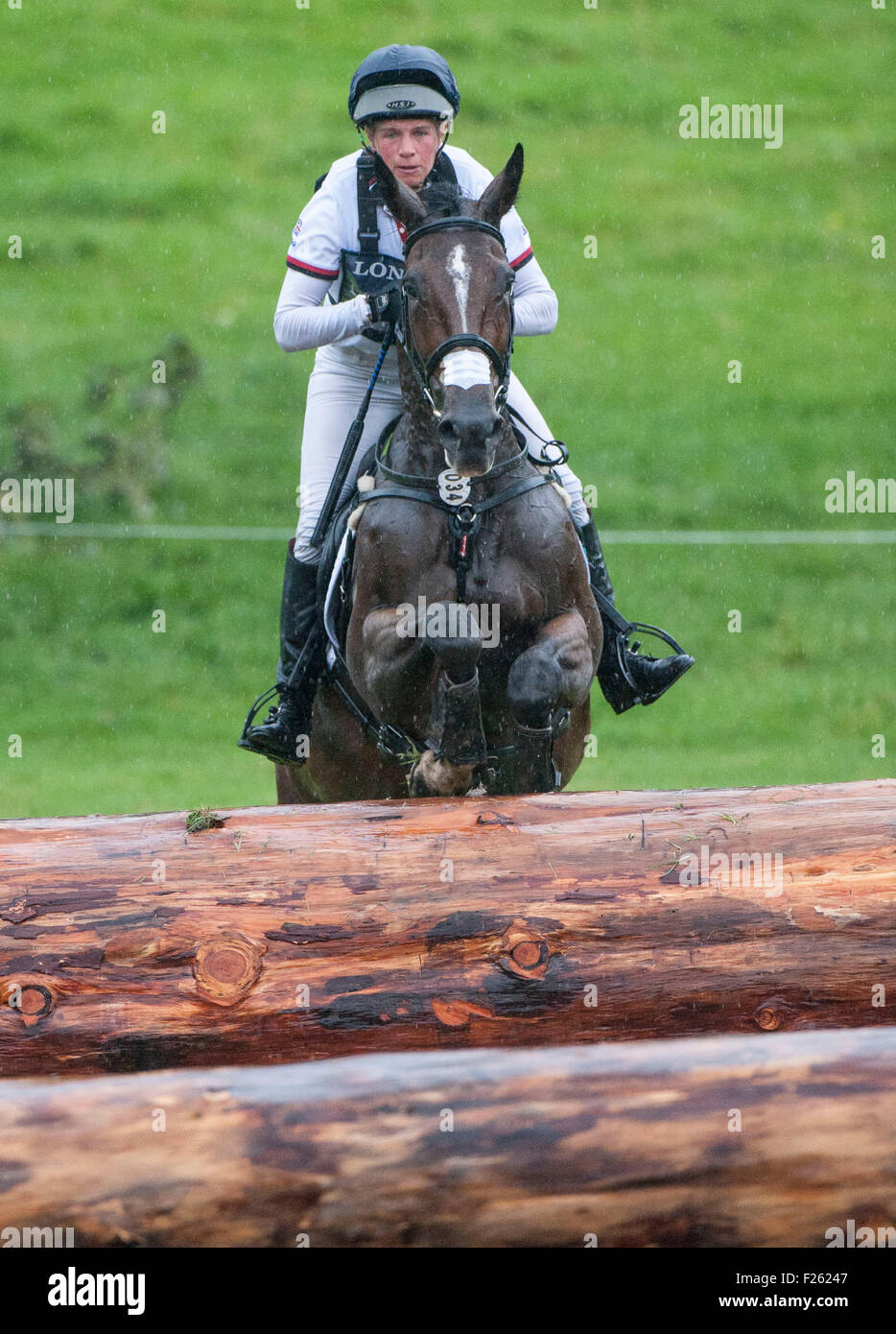 Blair Atholl, Perthshire, UK. 12th Sep, 2015. Izzy Taylor [GBR] riding KBIS Briarlands Matilda in action during Stock Photo