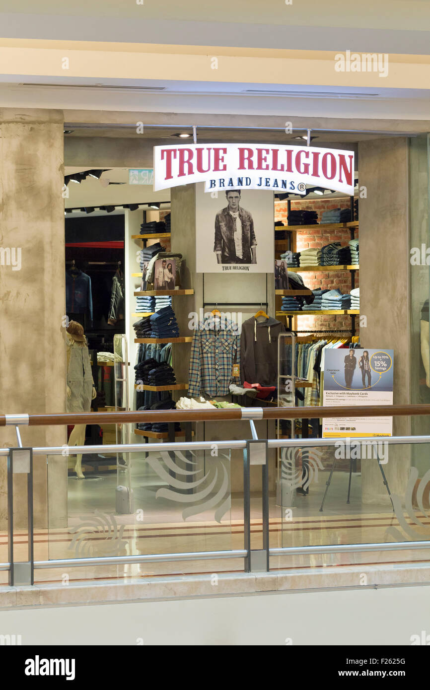 True religion shop - Stock Image