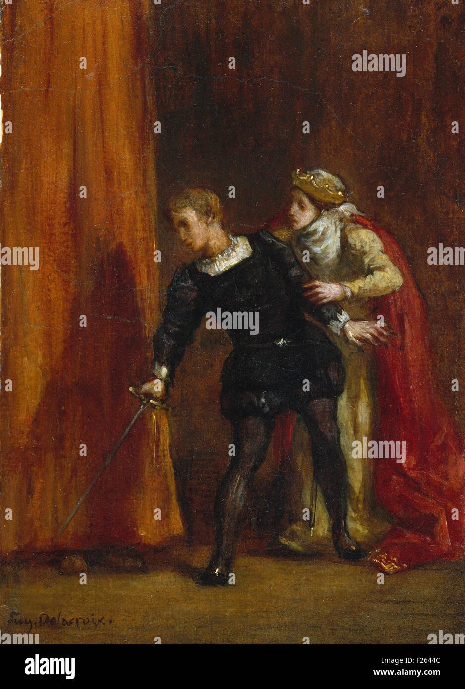 Eugène Delacroix - Hamlet and his Mother Stock Photo