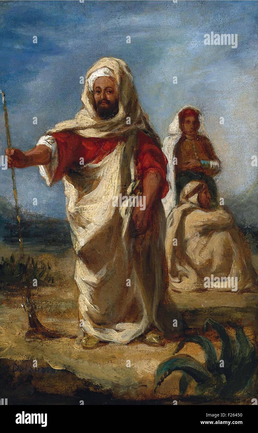 Eugène Delacroix - Moroccan Chieftain - Stock Image