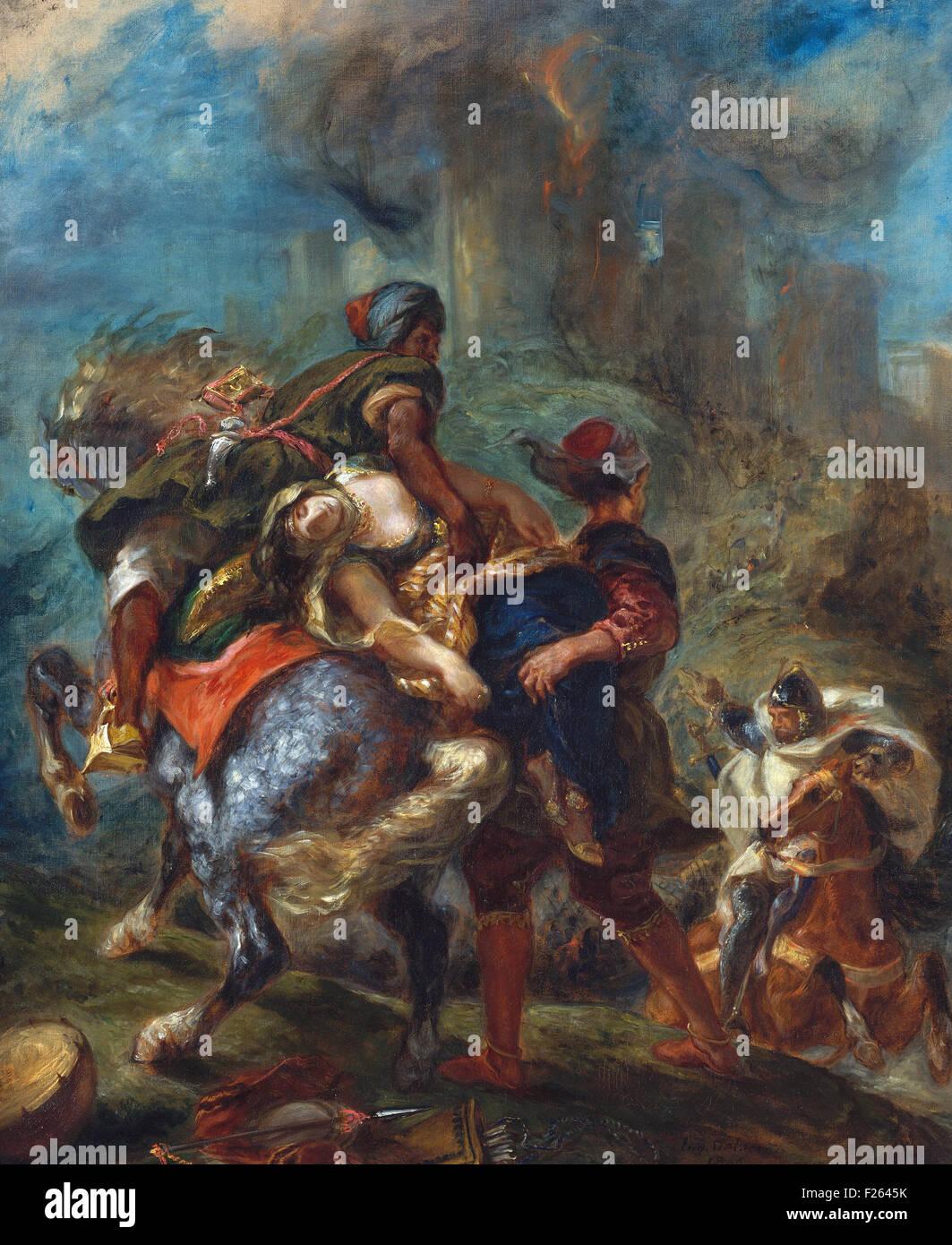 Eugène Delacroix - The Abduction of Rebecca - Stock Image
