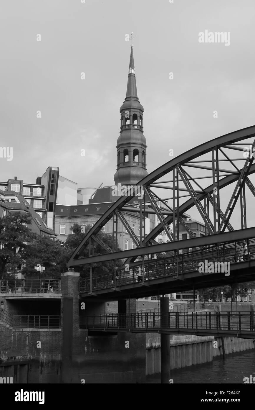 HafenCity & Hamburg Docks in Hamburg, Germany Stock Photo