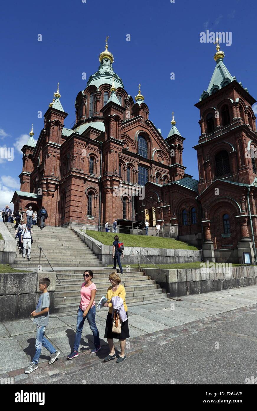 Helsinki, Finland. 1st Aug, 2015. A view of the Uspenski [Dormition] Cathedral. © Valery Matytsin/TASS/Alamy - Stock Image
