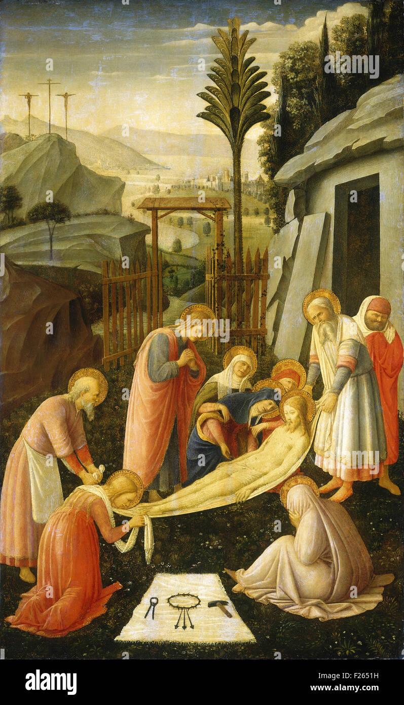 Fra Angelico - The Entombment of Christ - Stock Image