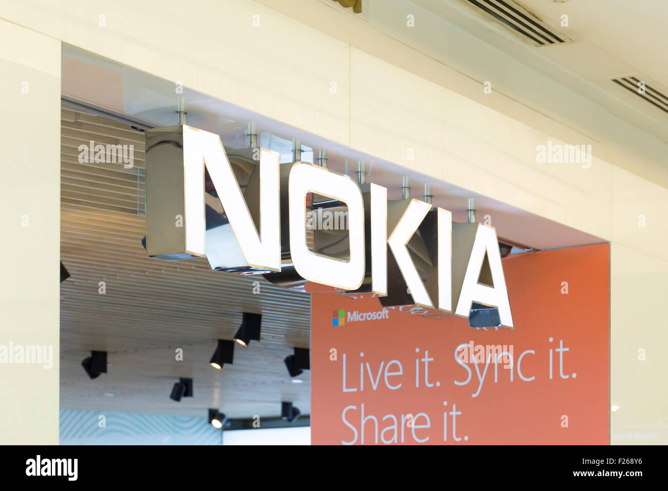 Nokia logo - Stock Image