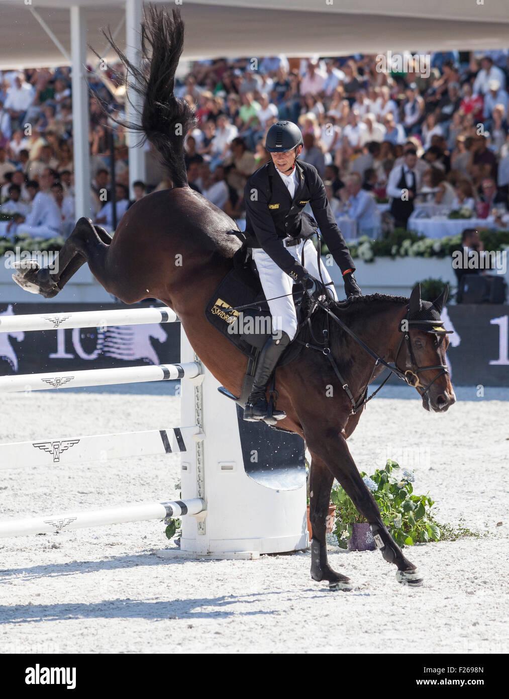 Rome, Italy. 12th Sep, 2015. Longines Global Champions Tour , Stadio dei Marmi, Rome, Italy. 9/12/15 Credit:  Stephen Stock Photo