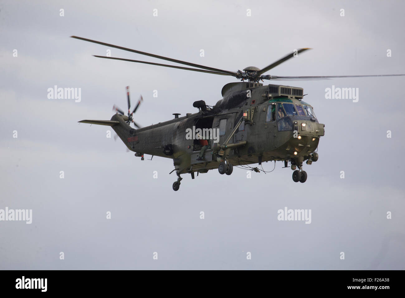 Wesland Sea King H C MK 4 from 848 NAS part of the Commando Helicopter Force based at RNAS Yeovilton - Stock Image