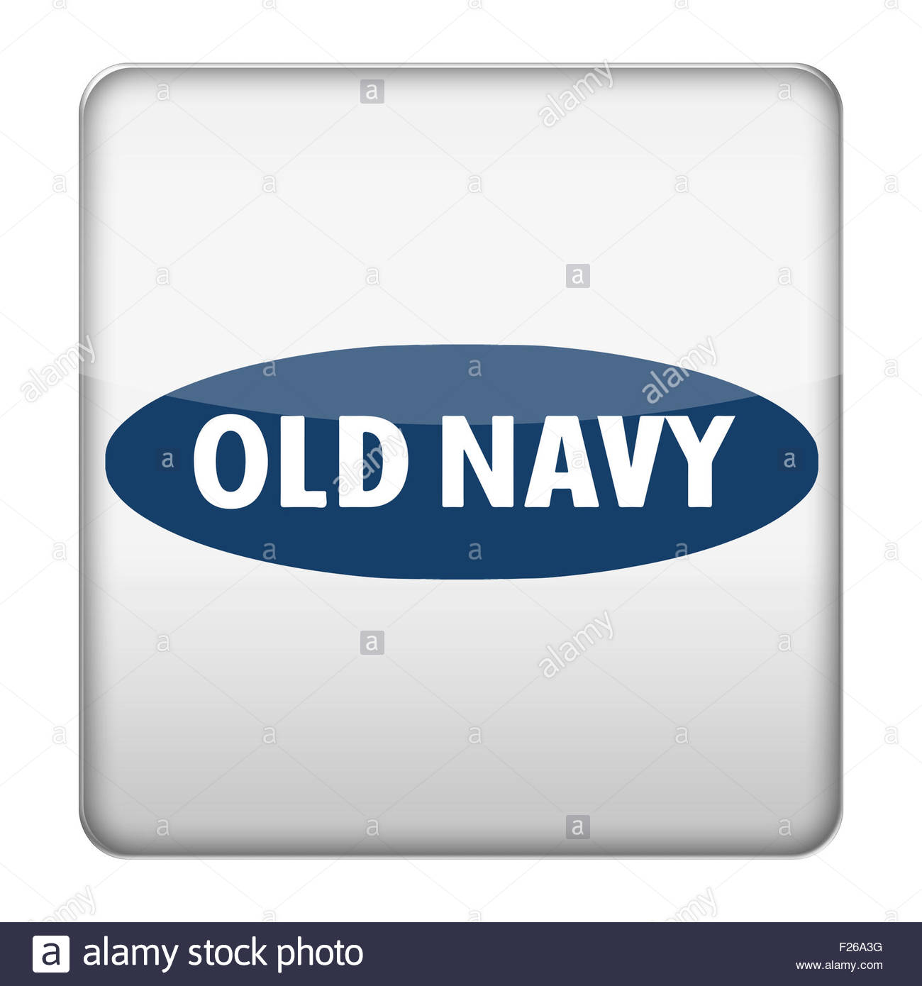 Old Navy logo icon app button - Stock Image
