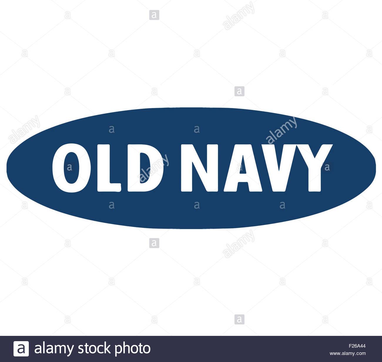 Old Navy logo icon brand - Stock Image