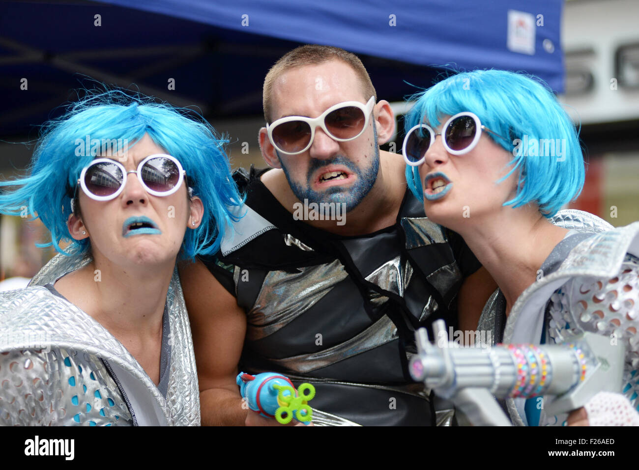 Saturday 18th july 2015  Taliesein Dance days event Swansea Kitsch & Sync perform in Swansea City Centre - Stock Image