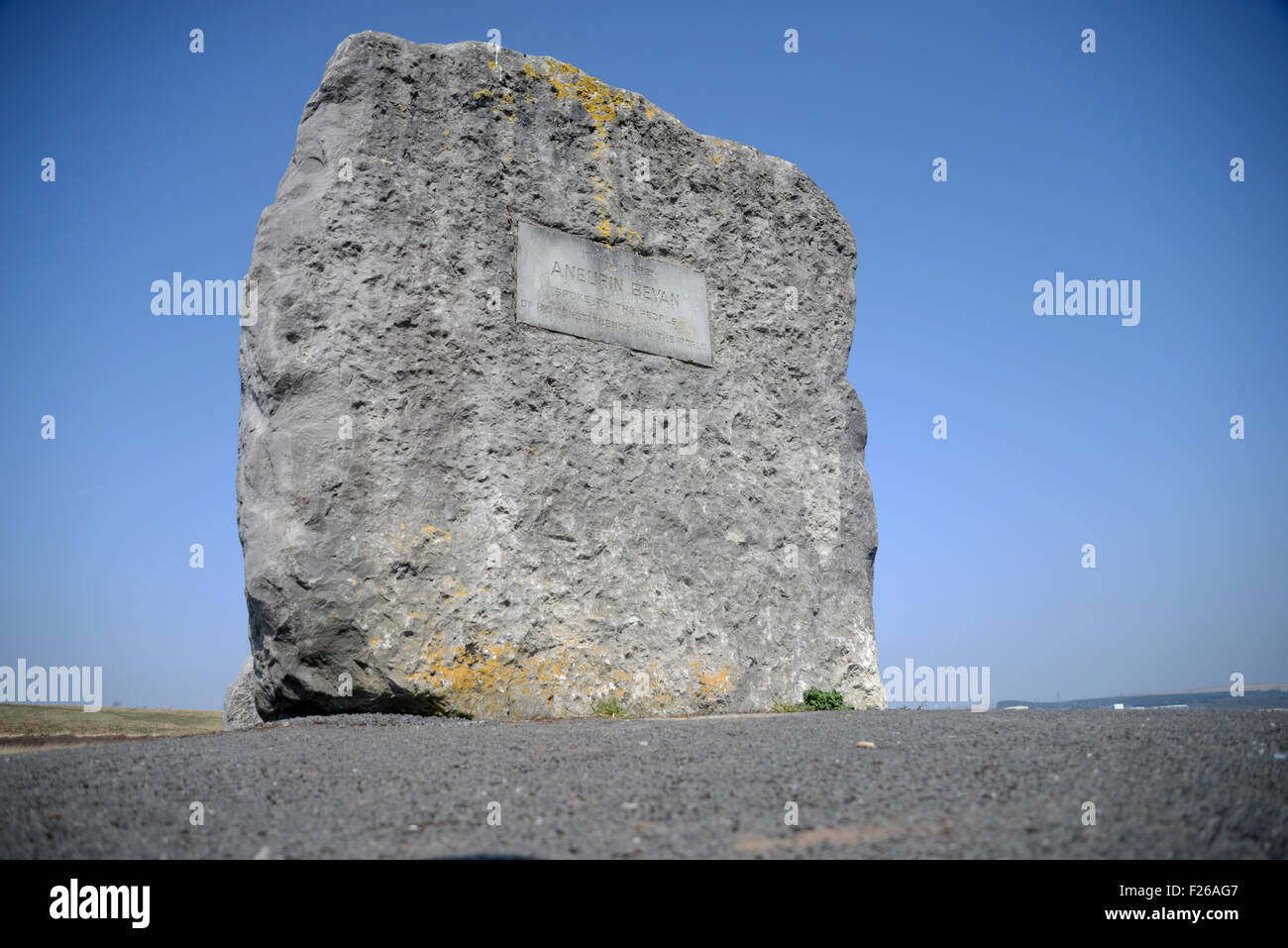 2nd February 2015  Stock file picture of the monument to Aneurin Bevan MP founder of the national Health Service - Stock Image