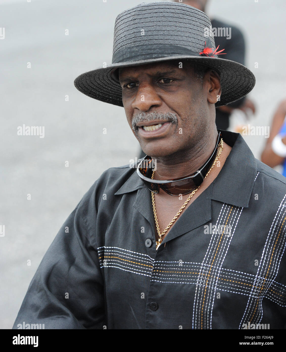 Philadelphia, Pennsylvania, USA. 12th Sep, 2015. FormerBoxing Champion, MICHAEL SPINKS, at the unveiling of the - Stock Image