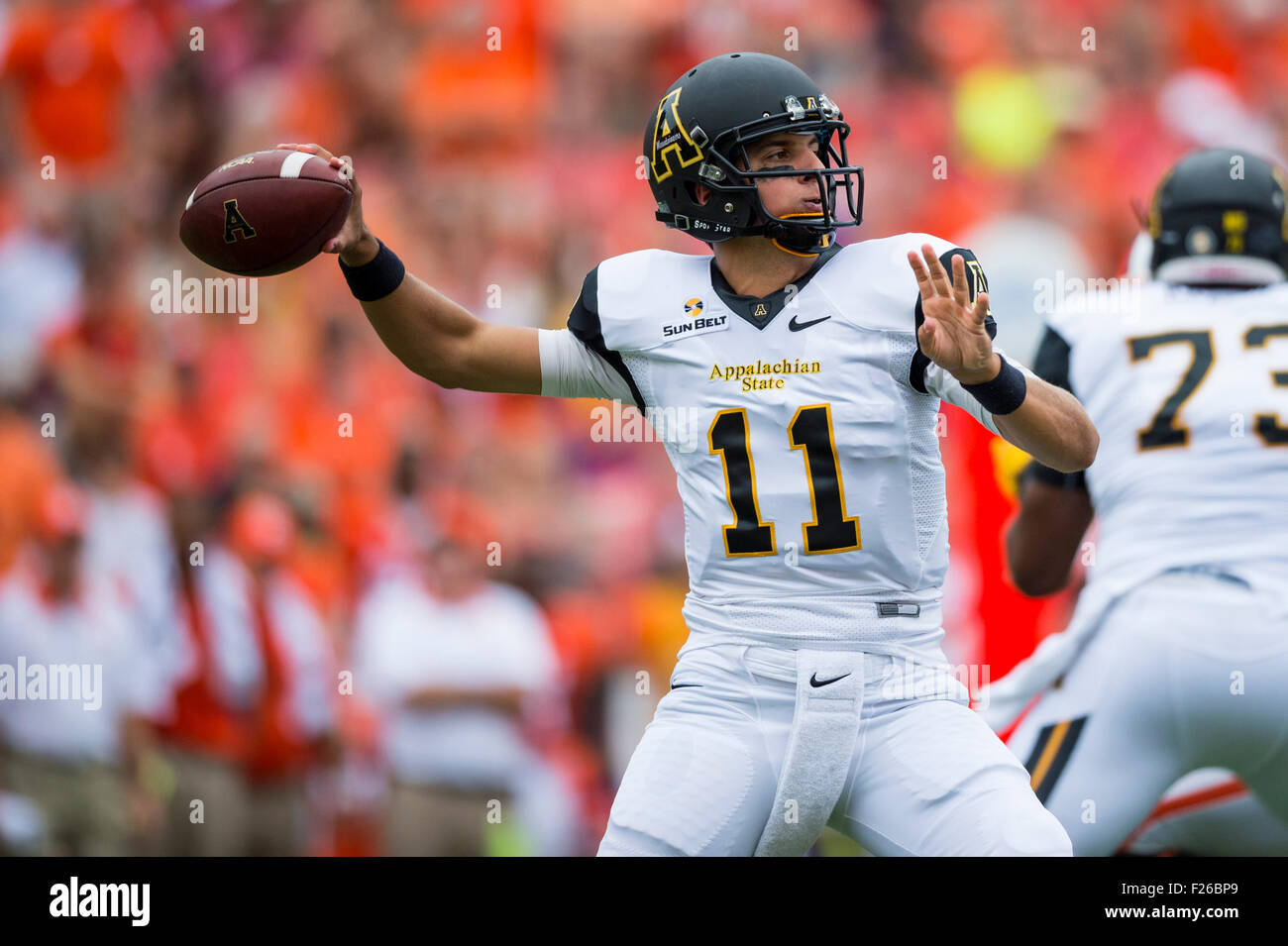App State Quarterback Taylor Lamb 11 During The Ncaa College Stock Photo Alamy