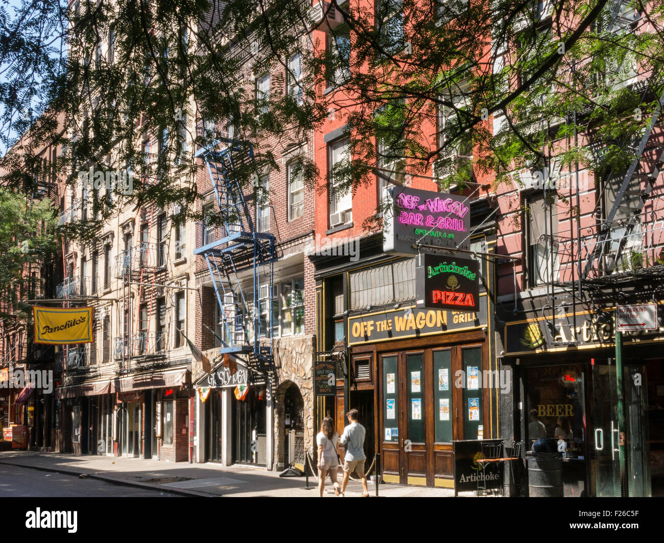 Macdougal street greenwich village nyc stock photo for Appartamenti greenwich village new york