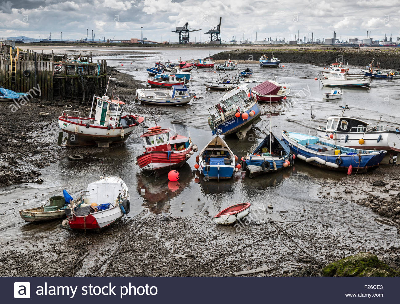 Low tide at Paddy's Hole - Stock Image