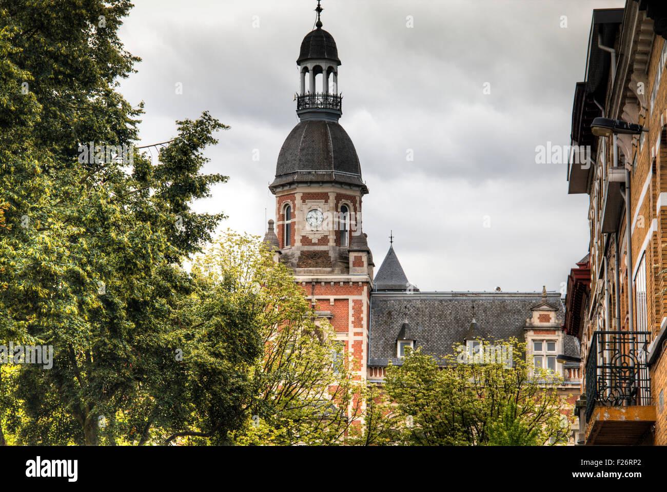 Historical building in Berchem, Antwerp - Stock Image