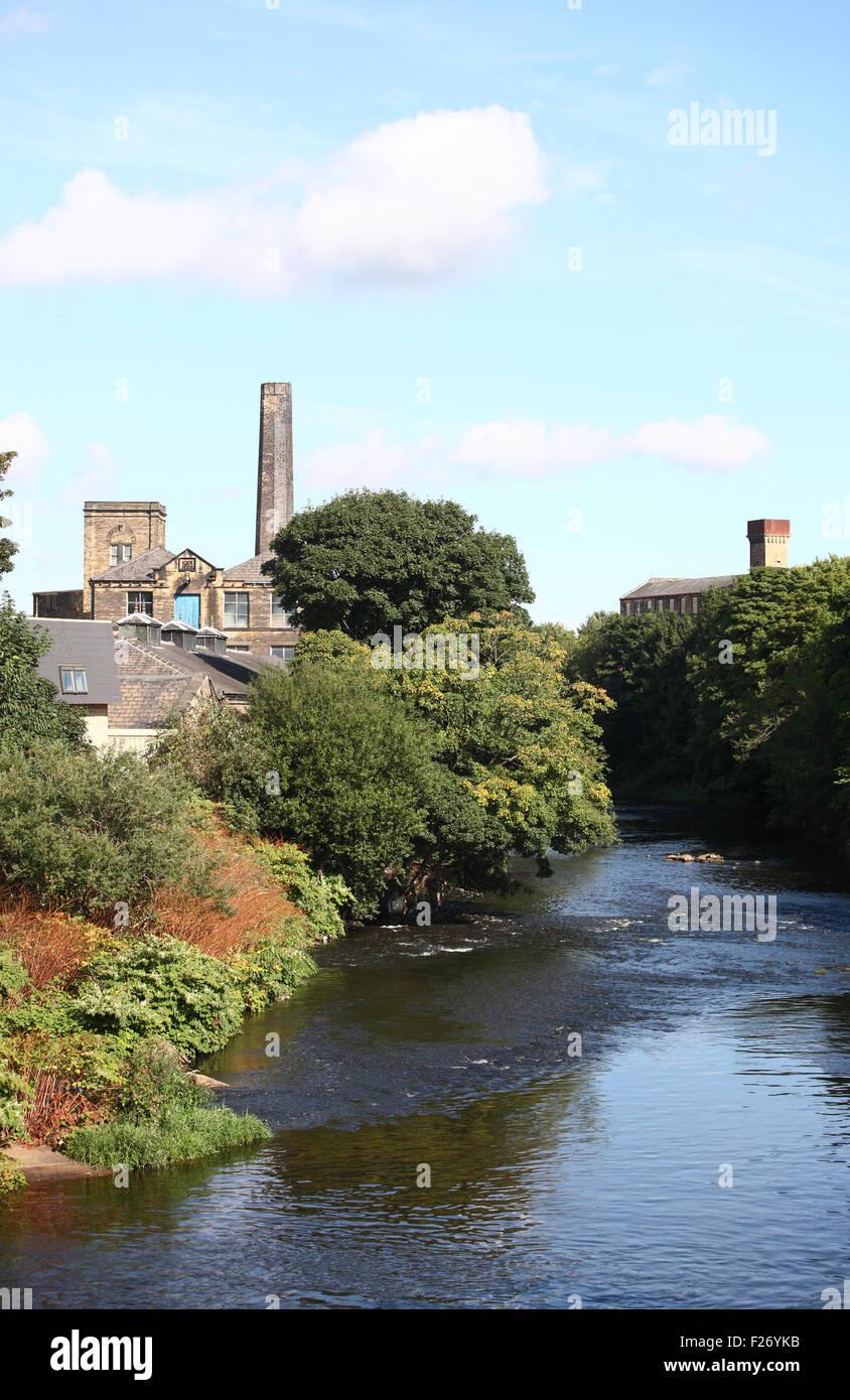 River Calder, Dewsbury - Stock Image
