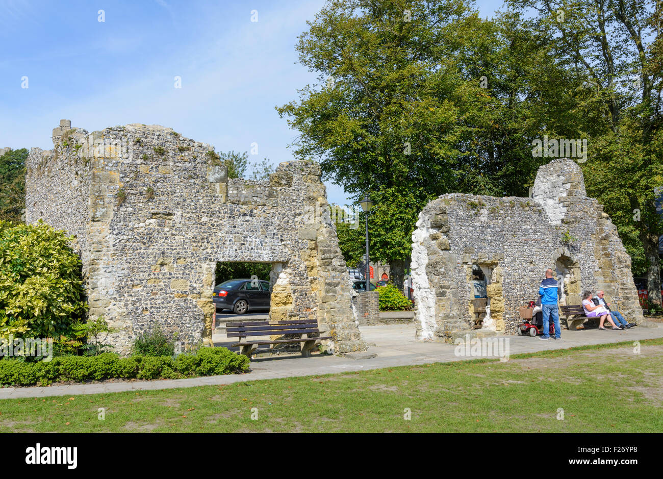 Ruins of Blackfriars Dominican Friary in Arundel, West Sussex, England, UK. - Stock Image