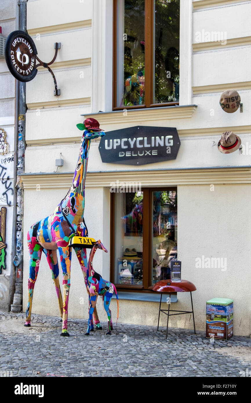 Upcycling Berlin upcycling deluxe shop makes trash into stylish designs stock photo