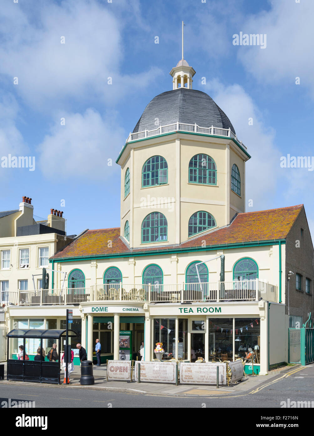 The Dome Cinema grade II listed building at Worthing, West Sussex, England, UK. - Stock Image