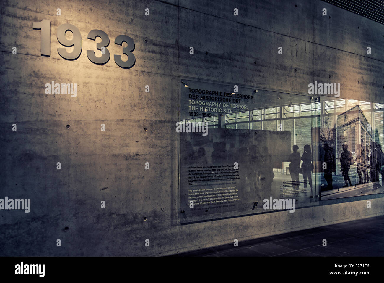 Berlin Topography of Terror indoor and outdoor museum & memorial - Documentation centre and exhibition hall - Stock Image