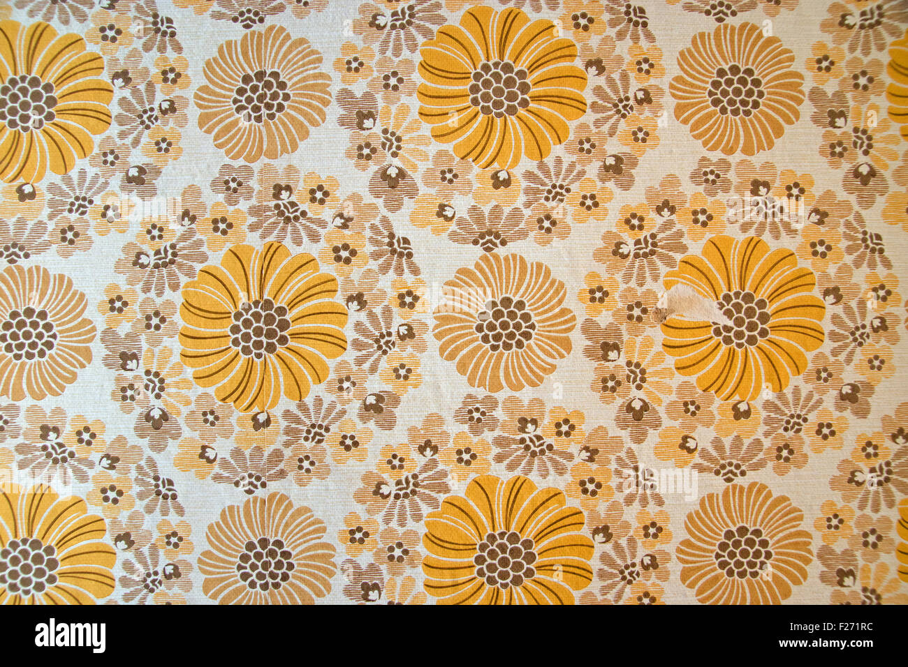 A typical wallpaper from the seventies - Stock Image