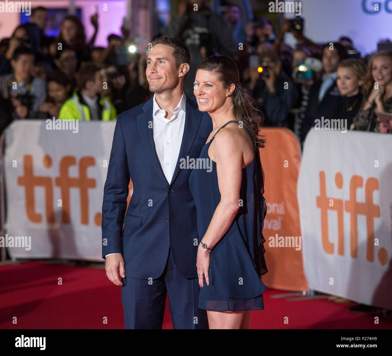 NASA Astronaut Tracy Caldwell Dyson and her husband George Dyson attend the world premiere for The Martian at the - Stock Image