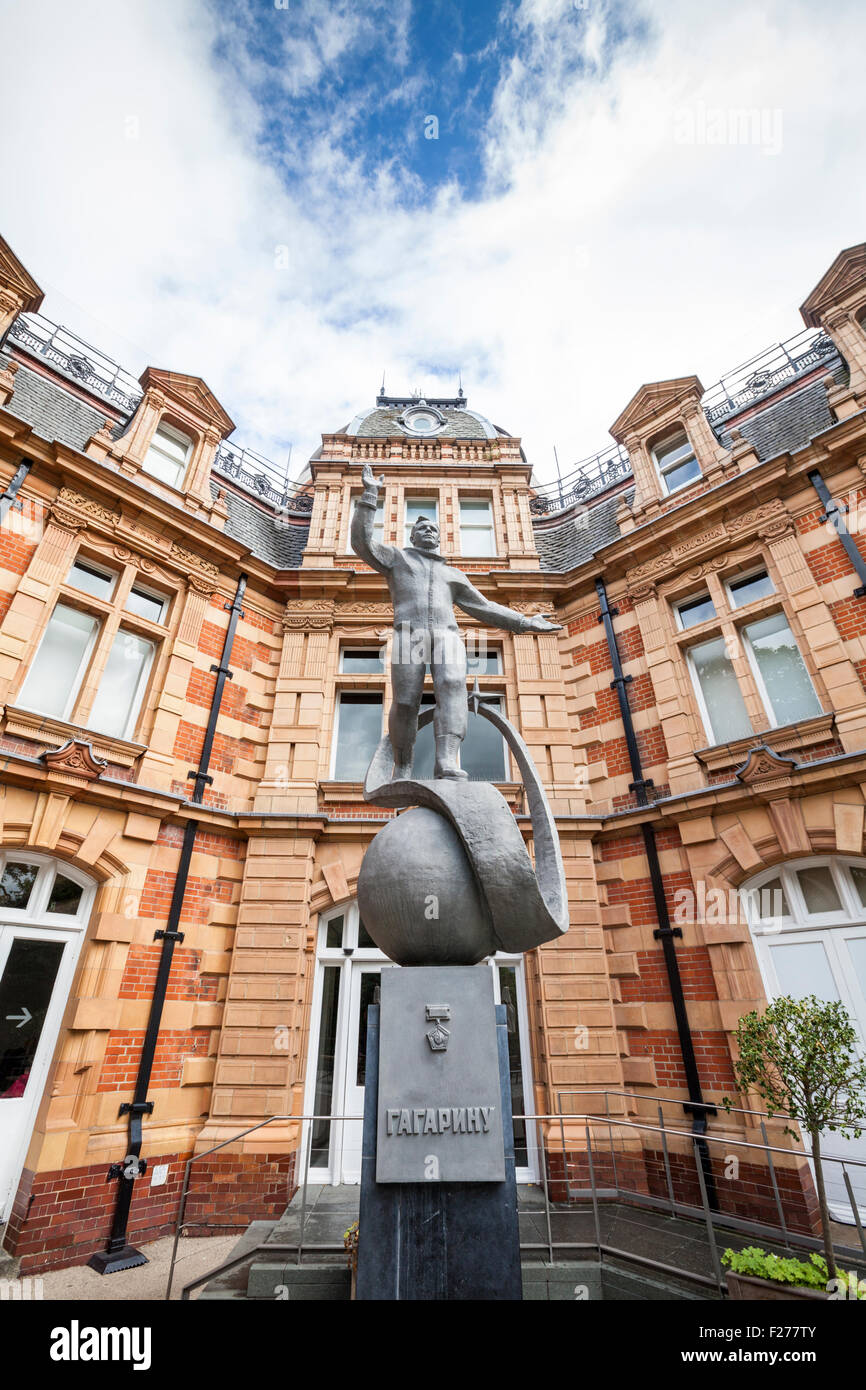 Yuri Gagarin statue at the Greenwich Observatory, London, England - Stock Image