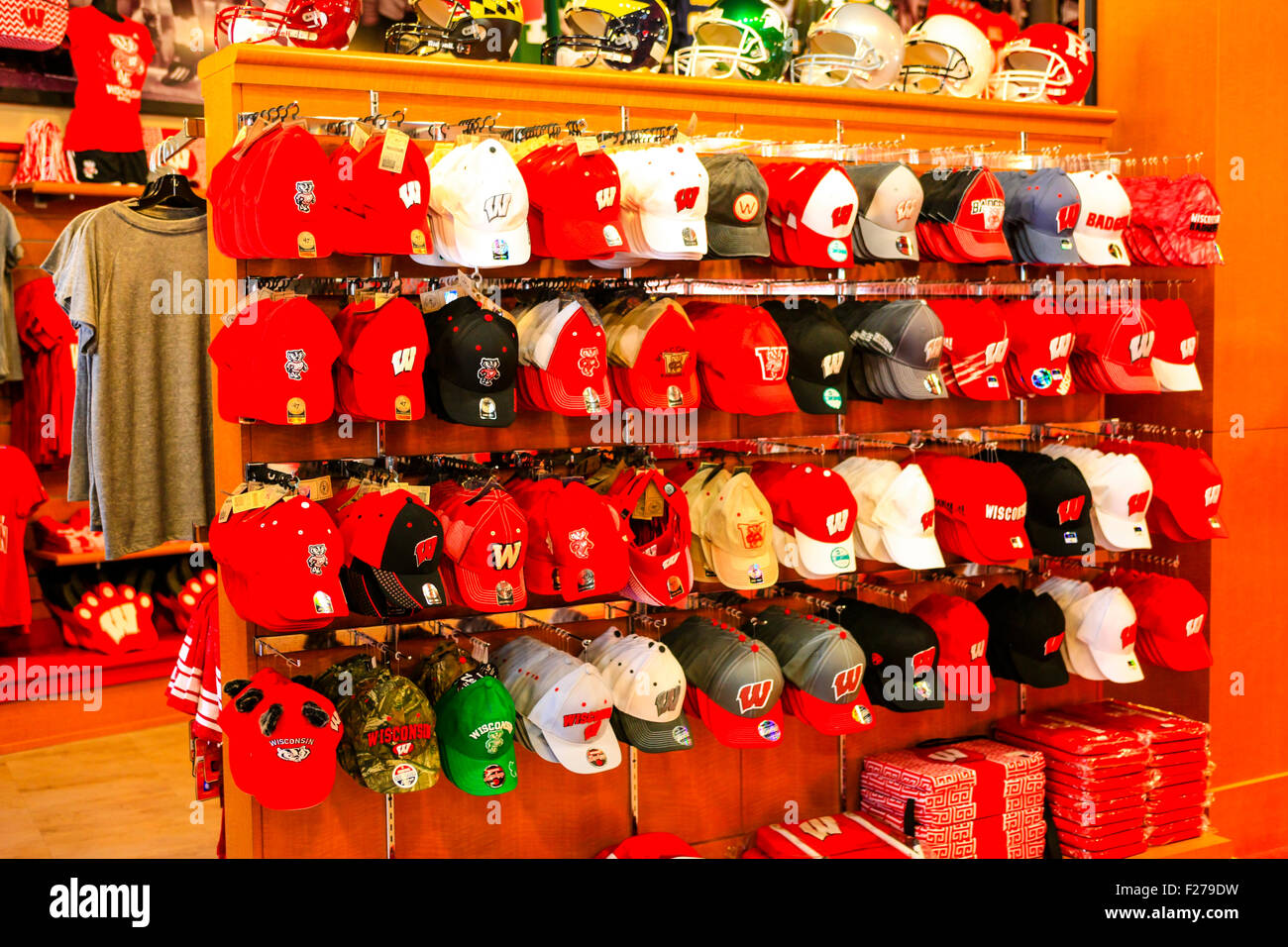 Merchandise for sale at the official UWBadgers football team store at Camp  Randall in Madison Wisconsin f02740dad