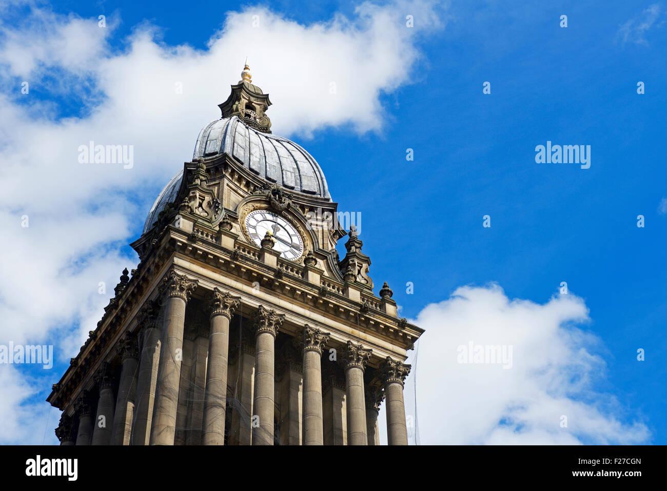 Leeds Town Hall, West Yorkshire, England UK - Stock Image