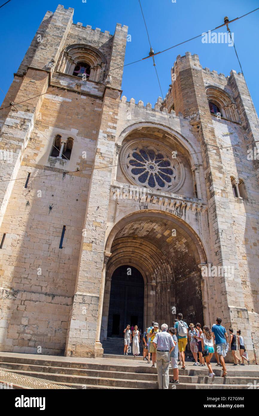 Lisbon Cathedral, Se de Lisboa, Lisbon, Portugal Stock Photo