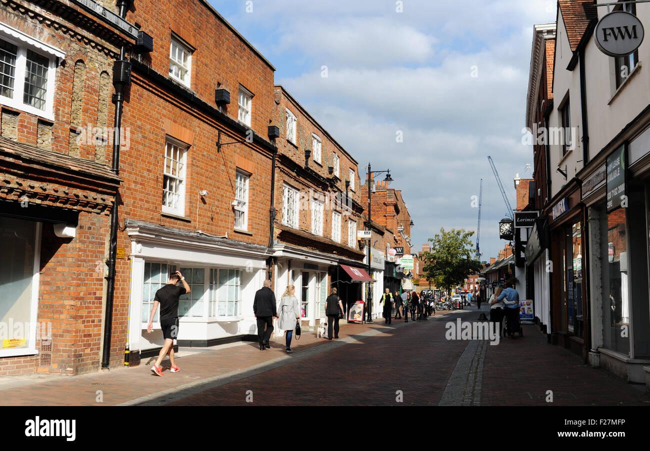 Godalming High Street Surrey UK Britain - Stock Image