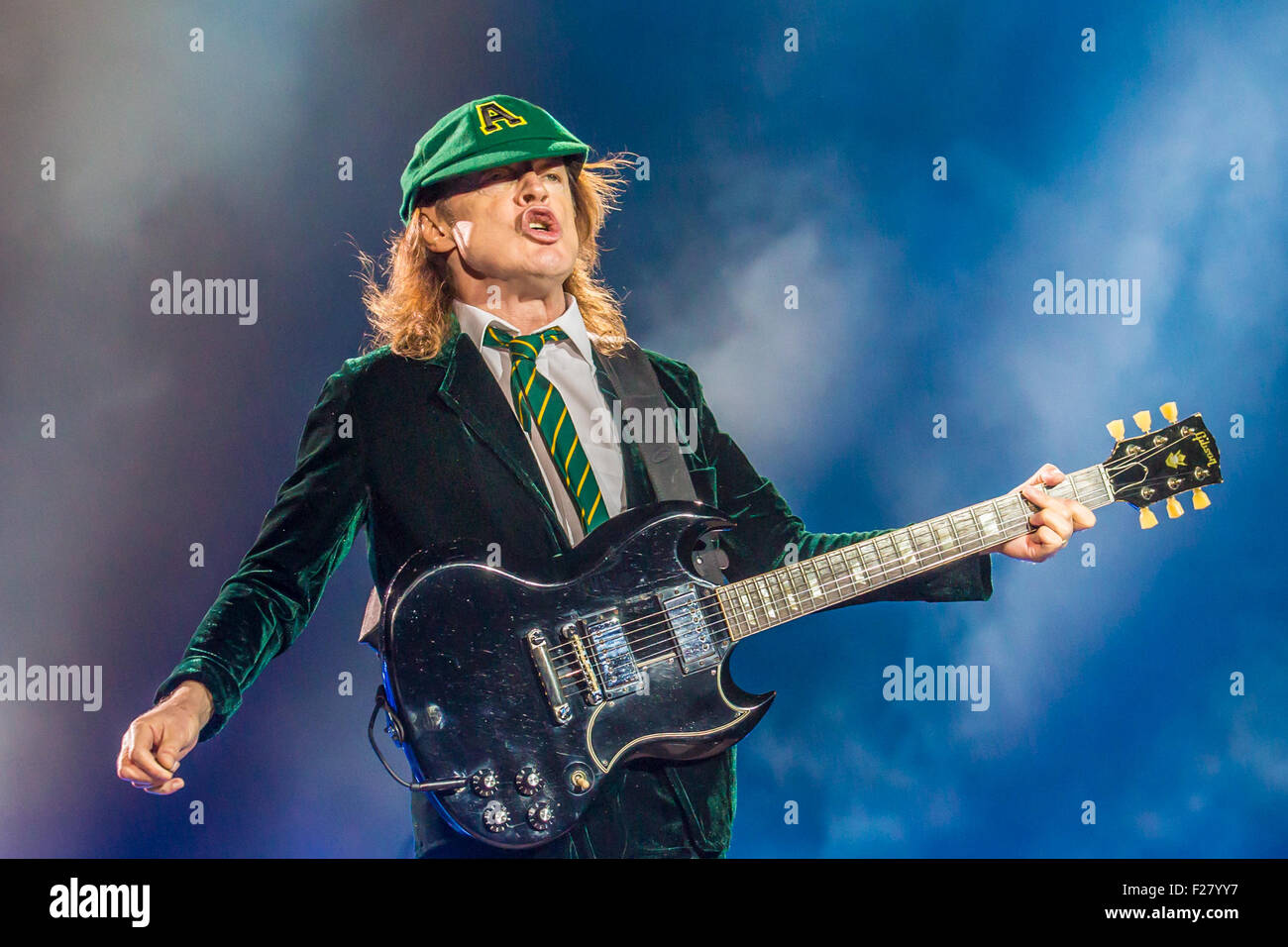 Detroit, Michigan, USA. 8th Sep, 2015. ANGUS YOUNG of AC/DC Stock ...