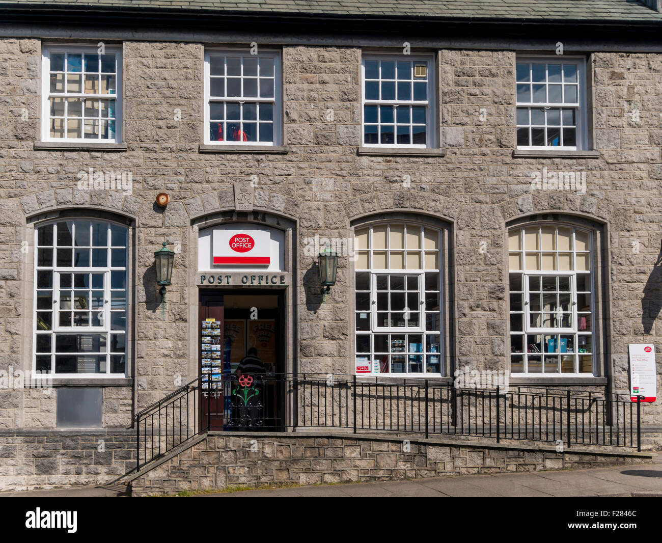 The Post Office at Grange over Sands Cumbria a substantial stone built building - Stock Image