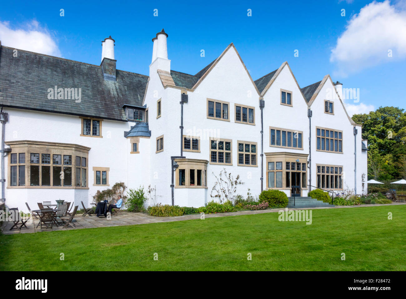 Grade 1 Listed Blackwell House designed by Baillie Scott built 1900 exhibiting Arts and Crafts treasures Stock Photo