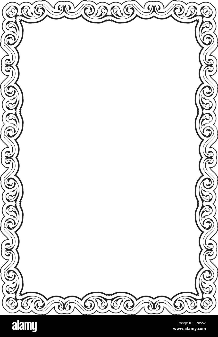 Nice Classical Frame On White Stock Photos & Nice Classical Frame On ...