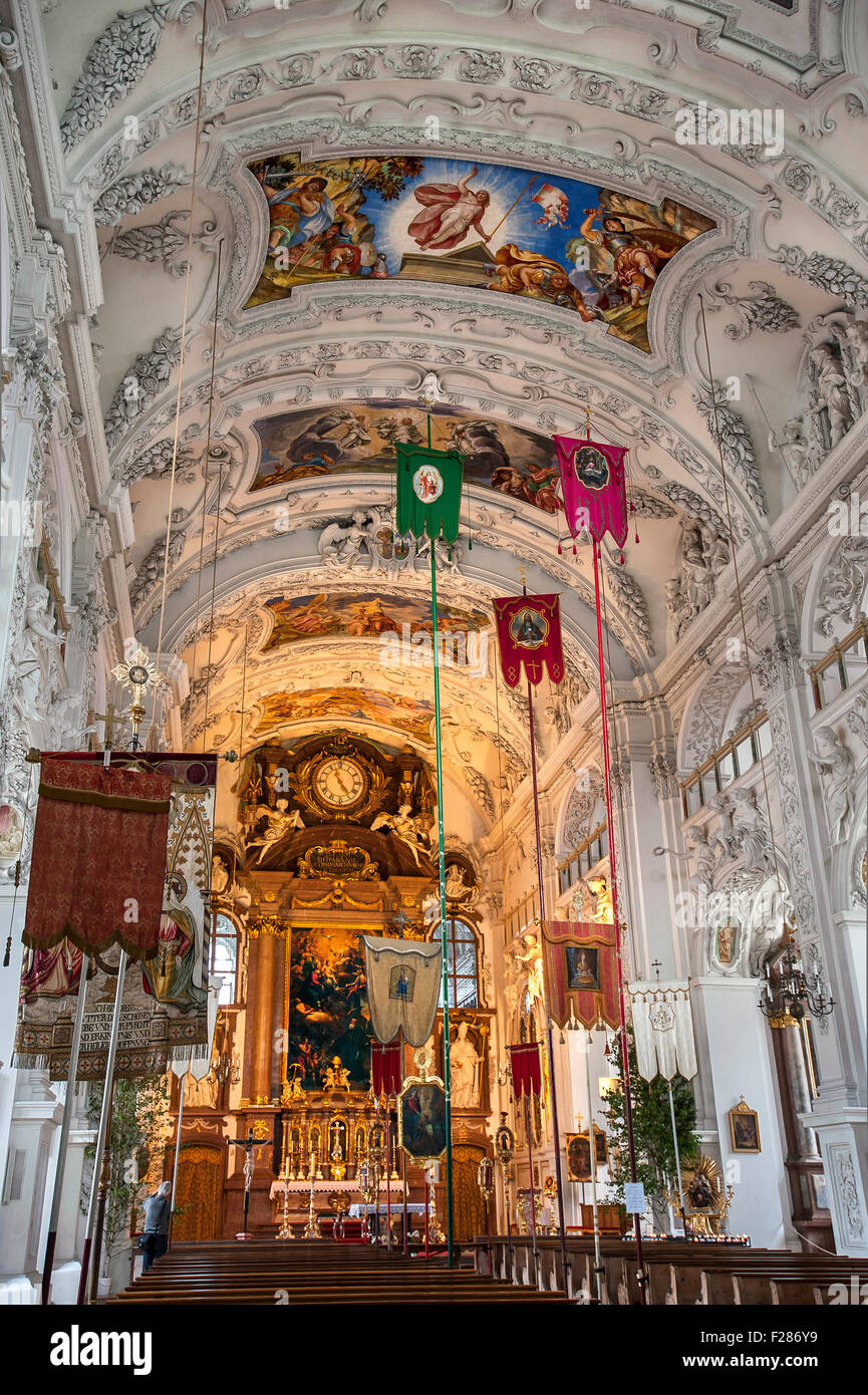 Benediktbeuern Abbey at Corpus Christi, Bavaria, Germany - Stock Image