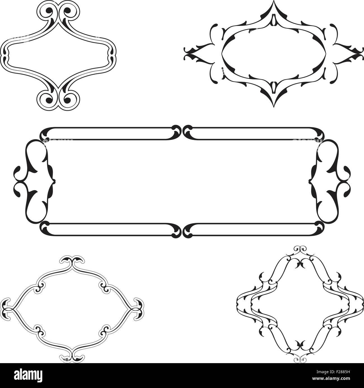 Gothic Frame Illustration Black and White Stock Photos & Images ...