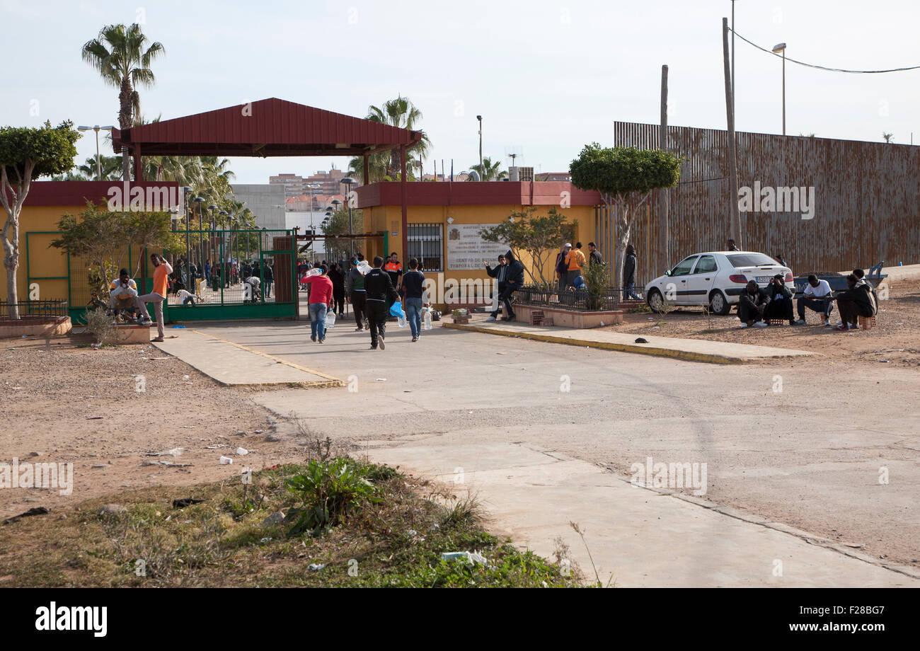 Centro de Estancia Temporal de Inmigrantes, centre for temporary immigrants, Melilla, Spain, north Africa Stock Photo