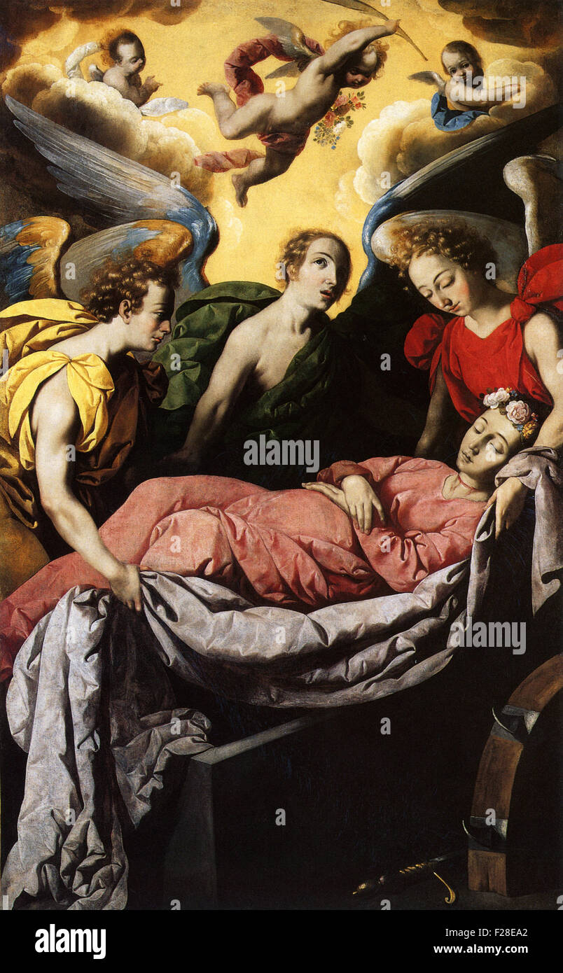 Francisco de Zurbarán - The Entombment of St. Catharine of Alexandria on Mount Sinai - Stock Image