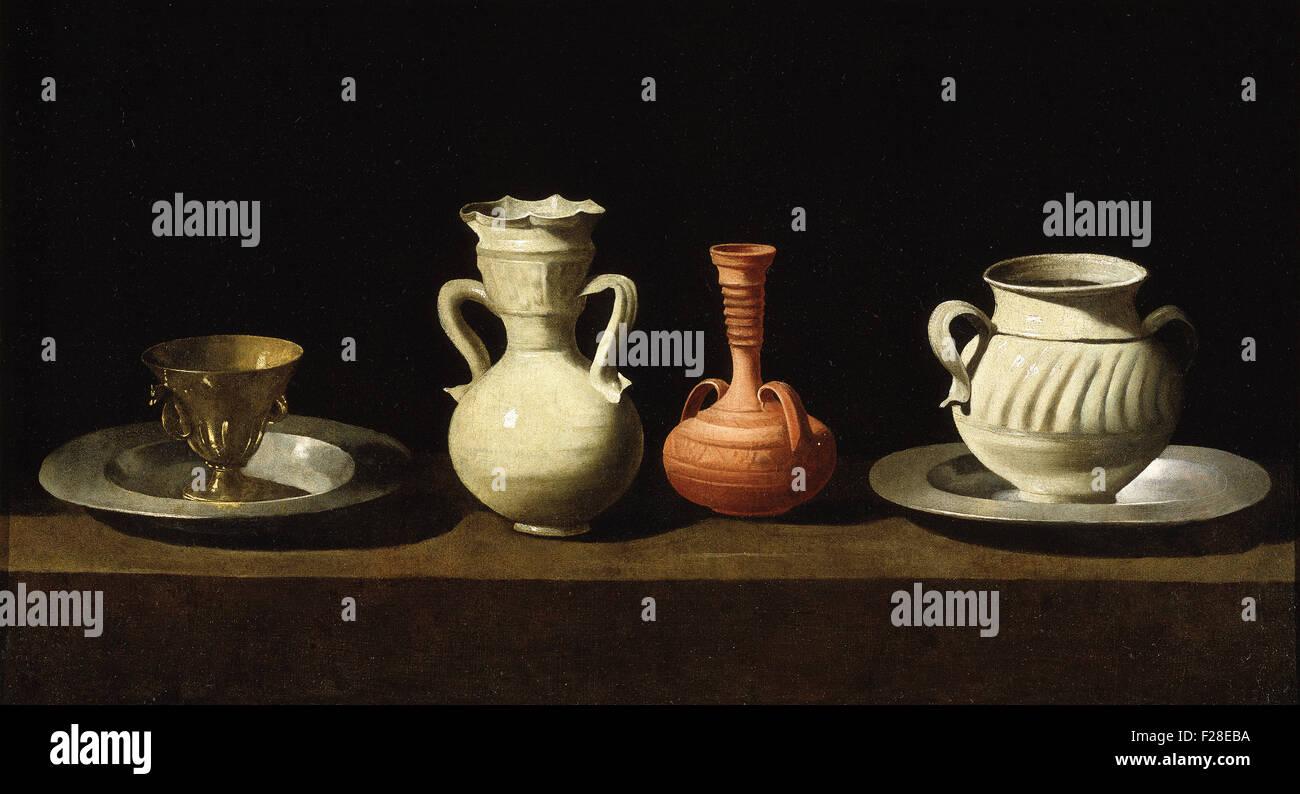 Francisco de Zurbarán - Still Life with Vessels - Stock Image