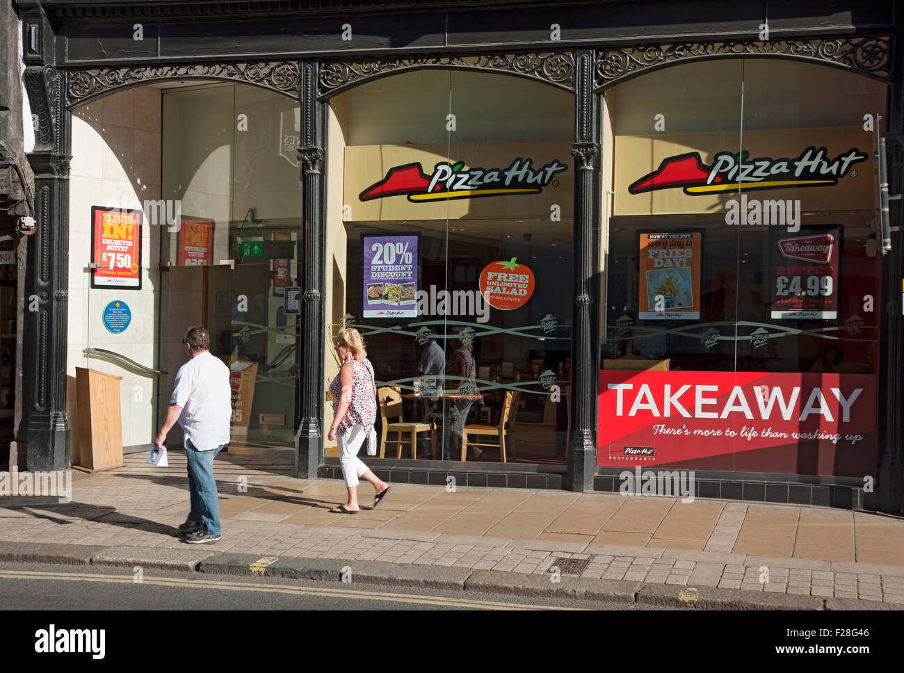 Fast Food Restaurant Uk Street Stock Photos Fast Food
