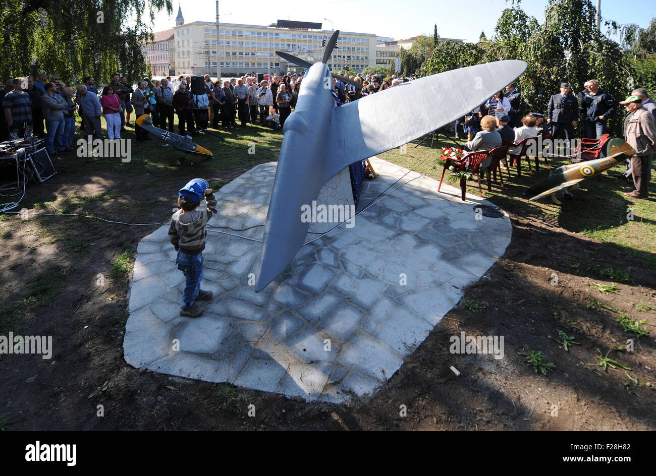Ceske Budejovice, Czech Republic. 01st Jan, 2007. Ceremonial unveiling of the monument in memory of Czechoslovak - Stock Image