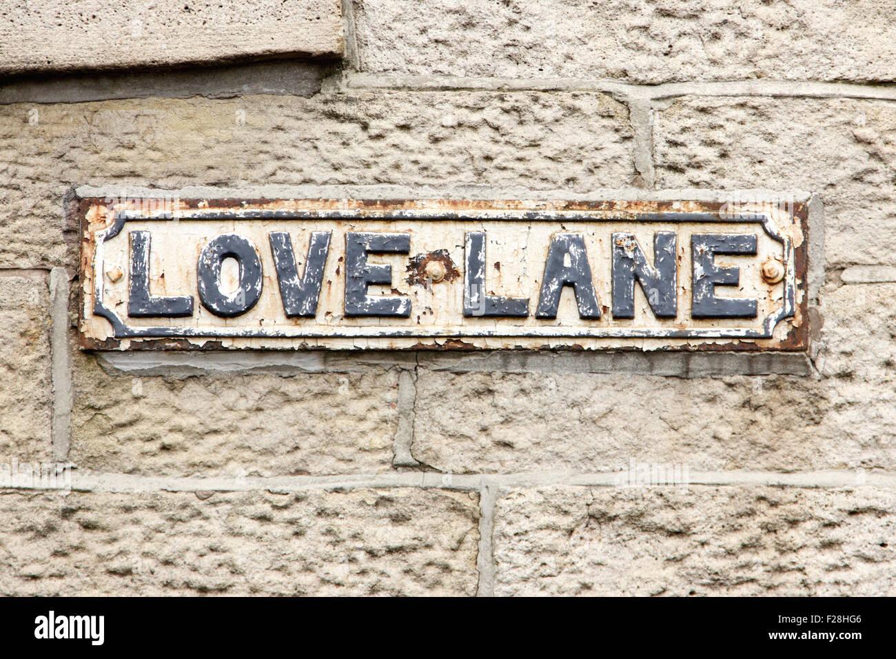 Romantic English Street Sign - Stock Image
