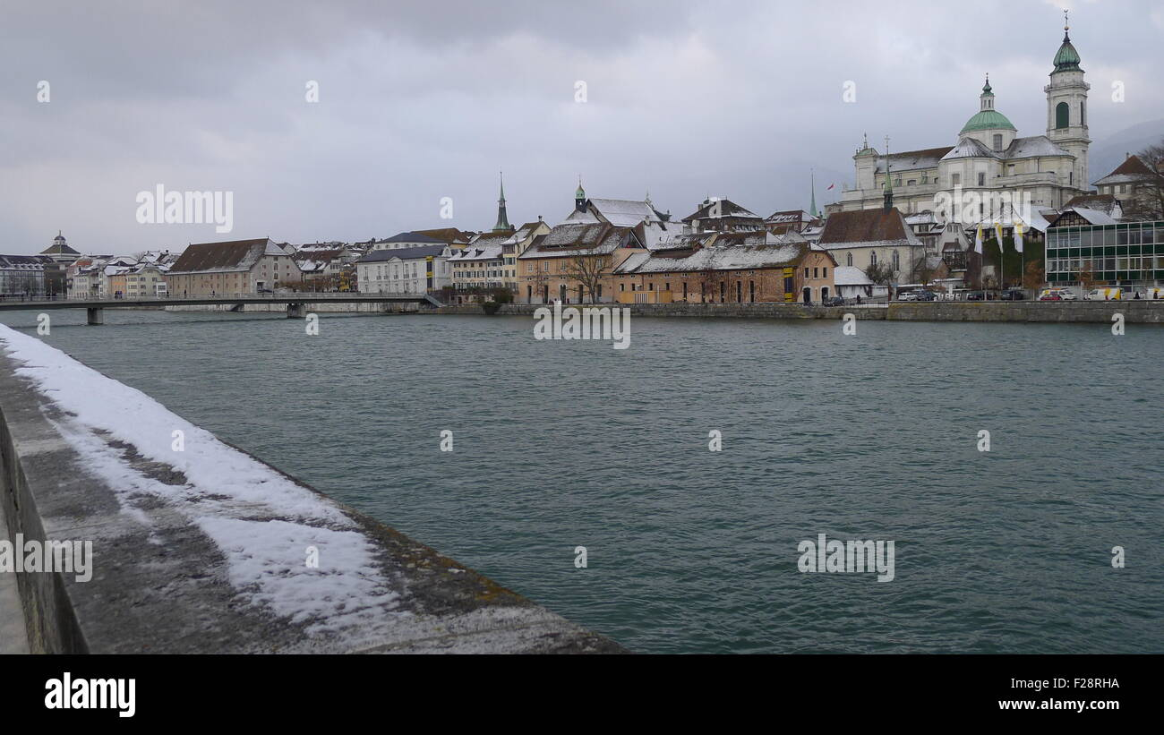 Aare River - Solothurn, Switzerland - Stock Image